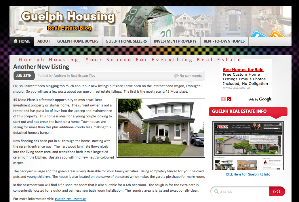 guelph real estate blog